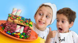 CASA DE DOCES e Nutella para Crianças  - Aprenda as Cores - Learn Colors DIY Candy House for Kids