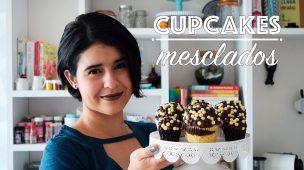 CUPCAKES   MESCLADOS DE BAUNILHA E CHOCOLATE - CUPCAKEANDO