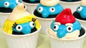 Cupcakes de Los Pitufos - Blue Velvet (Esponjosos y Deliciosos)