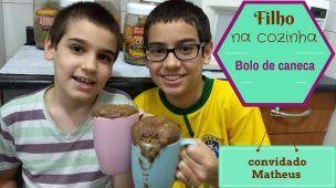 Filho na cozinha - BOLO DE CANECA