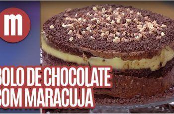 Bolo de chocolate com creme de maracujá – Mulheres (30/11/16)