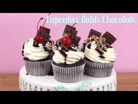 Como hacer Cupcakes de Doble Chocolate