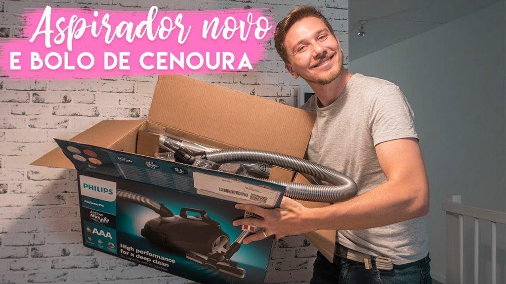 João e seu bolo de cenoura e aspirador novo (fiz review e tudo!)   Vanessa Lino