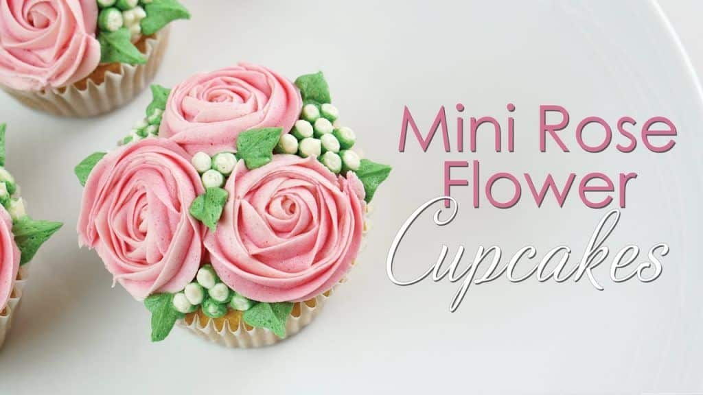 Mini Rose Flower Cupcake - Piping Technique Tutorial