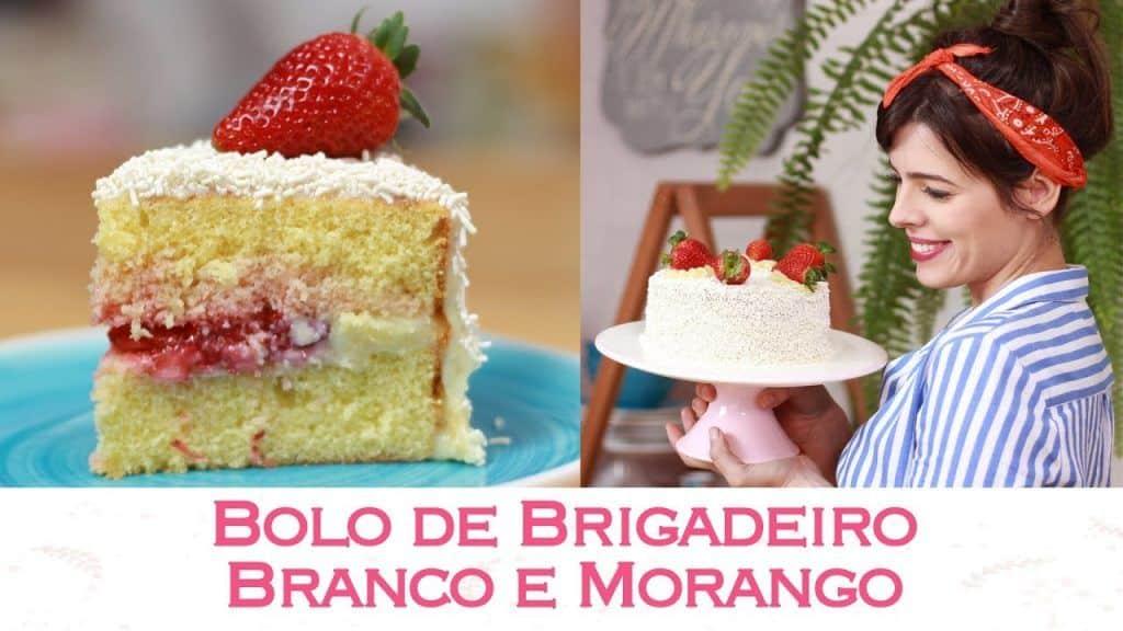 BOLO de BRIGADEIRO BRANCO e MORANGO ? Especial Morangos ? | TPM, pra que te quero?