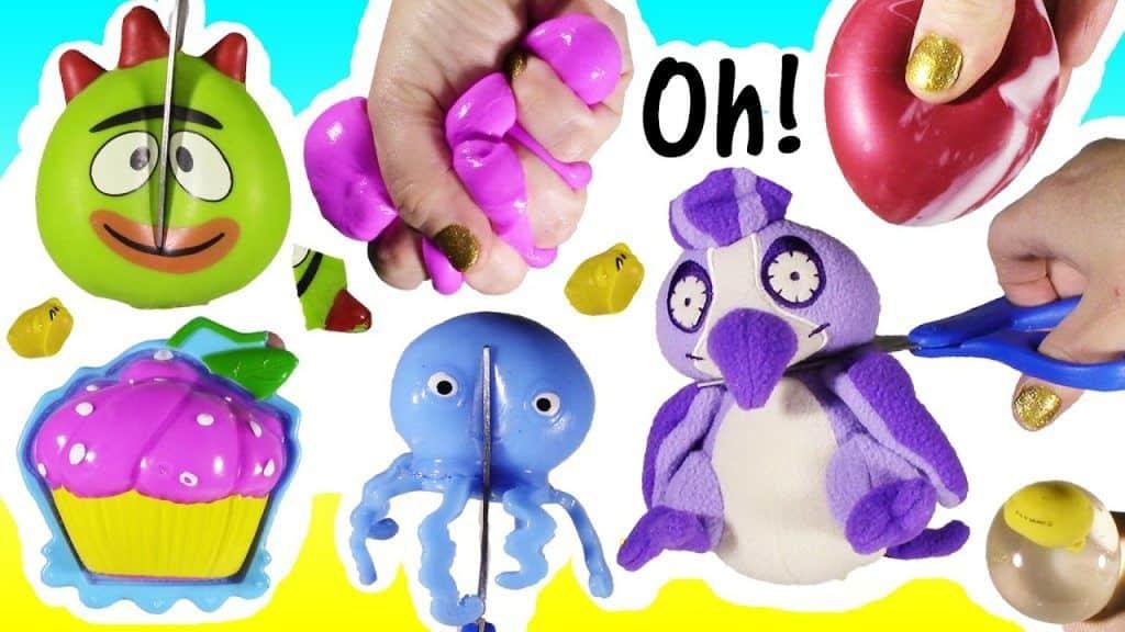 Cutting OPEN Squishy Gudetama Water BALL EGG! Scented Stuffed Animal Cupcake SLIME! FUN