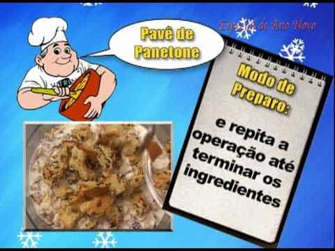 Receita Pavê de Panetone