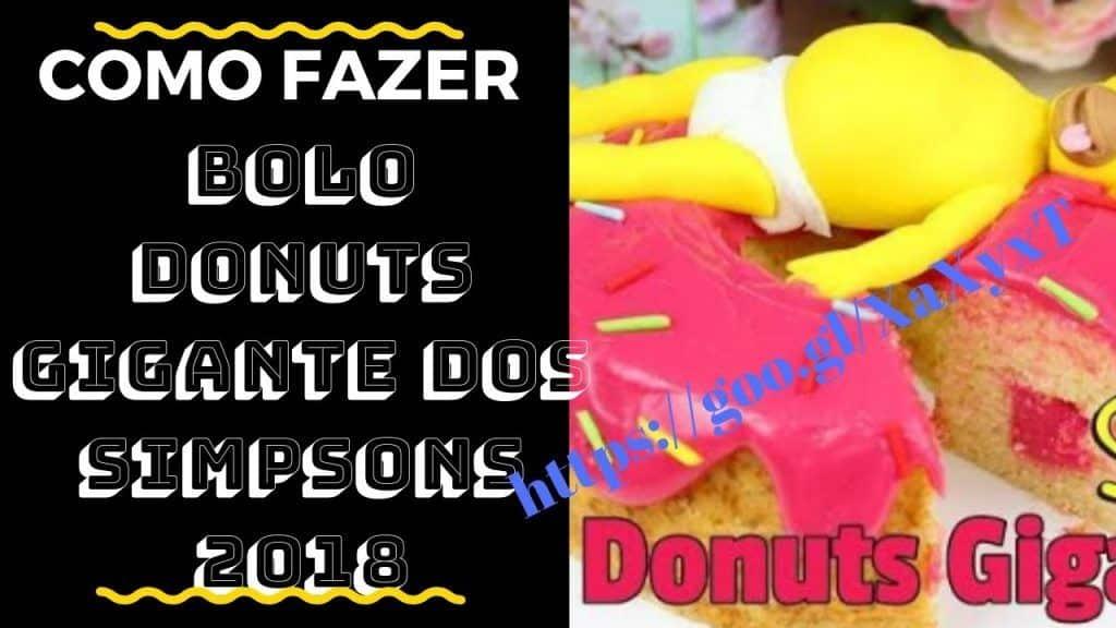 Bolo Donuts Gigante Dos Simpsons | Bolo Donuts Gigante Dos Simpsons 2018 | Bolo no Pote