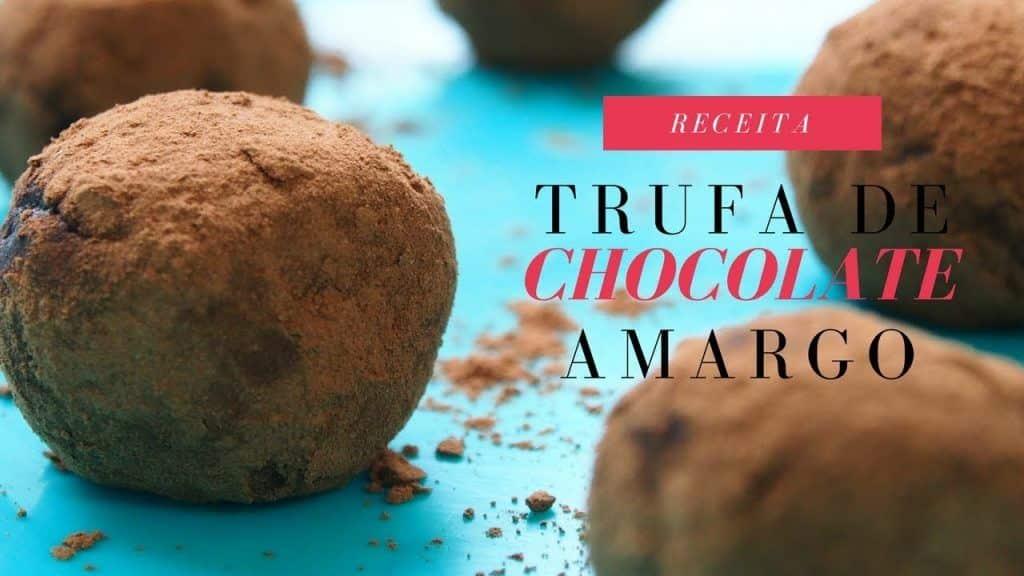 Receita de trufa de chocolate com tâmaras 1 Tem vontade de aprender um pouco mais destas receitas que estão disponibilizadas, visite Vivendo de Brigadeiro
