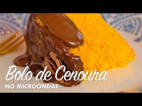 Bolo de Cenoura no Micro-ondas - Por Receitas e Temperos