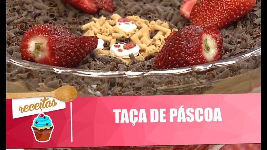 Taça de Páscoa, com bolo, mousse e brigadeiro - Vida Melhor - 28/03/2018