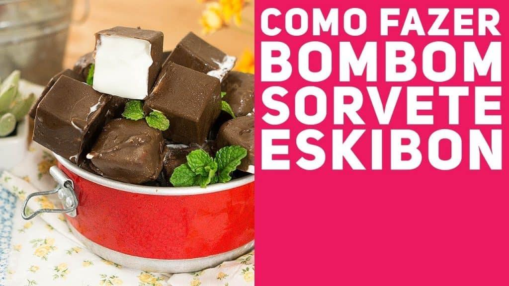 BOMBOM DE SORVETE (Como fazer Mini Eskibon, o Bombom Gelado) - Receitas de Minuto EXPRESS #286