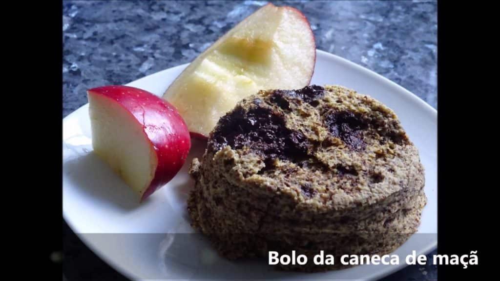 Bolo da caneca de maçã SEM FARINHA, SEM AÇÚCAR (rápido e simples) - PALEO . LOWCARB . DIABÉTICO