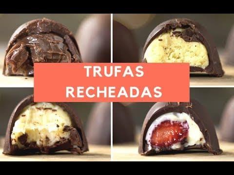 Como fazer trufas de chocolate recheadas   Guchas Make 1 Este Post é baseado no vídeo do Canal Guchas Make publicado no Youtube, em 2018-08-13 20:00:02 ? Quer ver um pouco mais destas receitas que estão publicada Vivendo de Brigadeiro