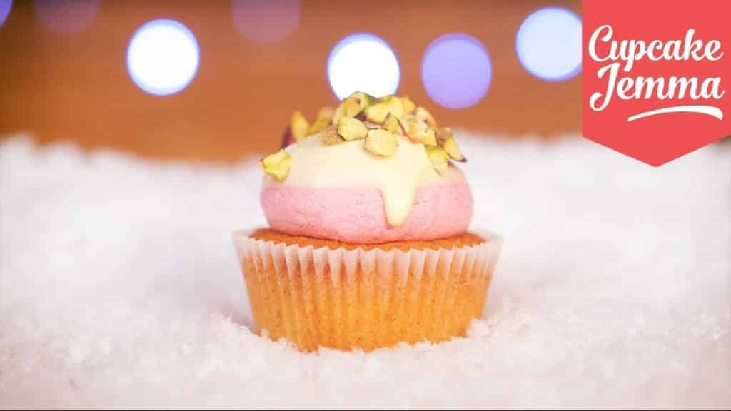 Cranberry, Pistachio & White Chocolate Cupcakes for Christmas! | Cupcake Jemma