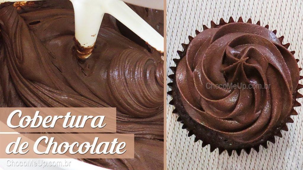 COBERTURA DE CHOCOLATE para Bolos e Cupcakes   Receita