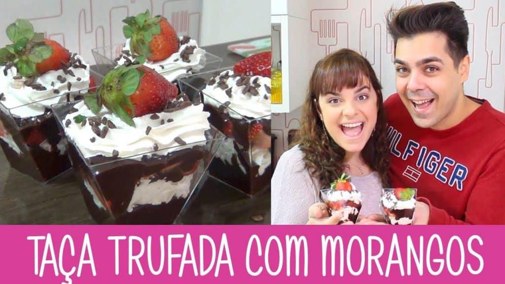 TAÇA TRUFADA COM MORANGOS - #343 - Receitas da Mussinha