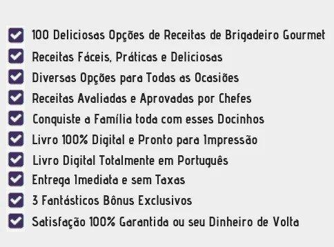 100 receitas de Brigadeiro Gourmet - tudo que você vai aprender