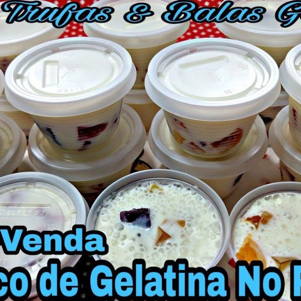 GELATINA COLORIDA NO POTINHO RECEITA IMPERDÍVEL DE FAÇA&VENDA.
