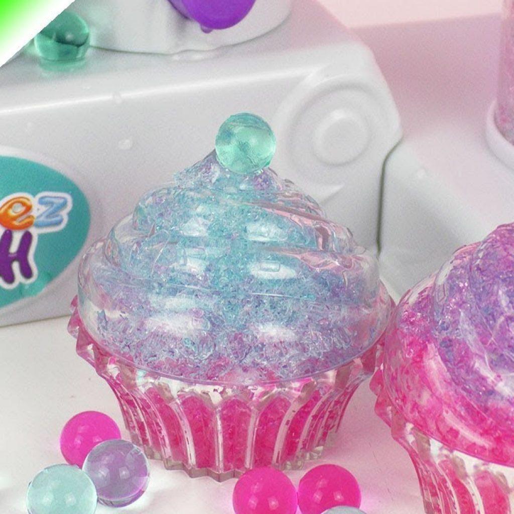Orbeez Crush játékszett – Cupcake szétnyomkodott/szétzúzott Orbeez zselégyöngyökből – DEMO bemutató