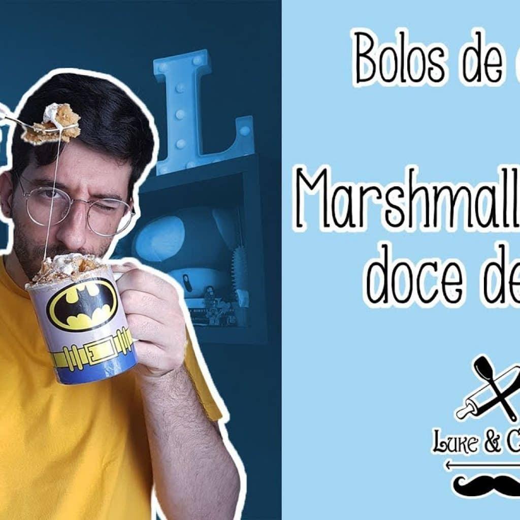 BOLO DE MARSHMALLOW E DOCE DE LEITE - BOLOS DE CANECA