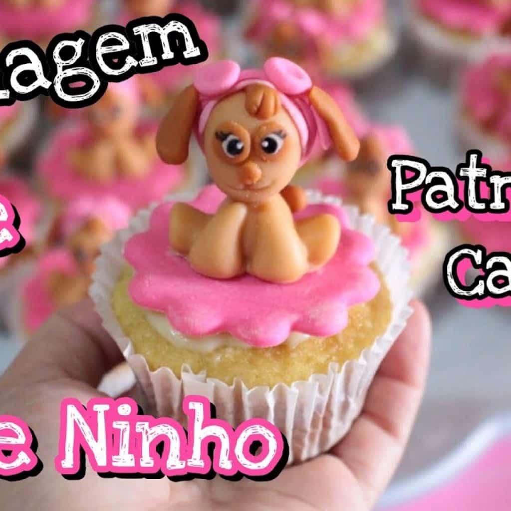 DECORANDO CUPCAKE PATRULHA CANINA SKYE - COM PASTA DE LEITE NINHO