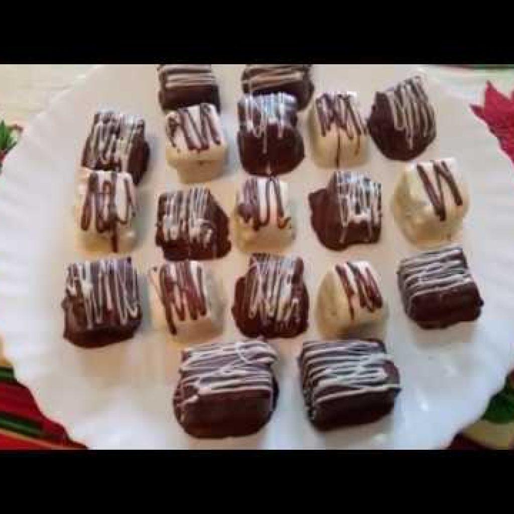 Quadradinhos de Panetone Para o Natal! Por Solange Silva!