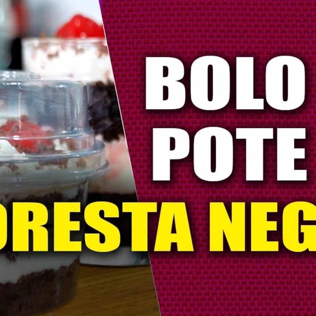 ❤️❤️  Bolo de Pote FLORESTA NEGRA  Receita de Bolo no Pote Floresta Negra!