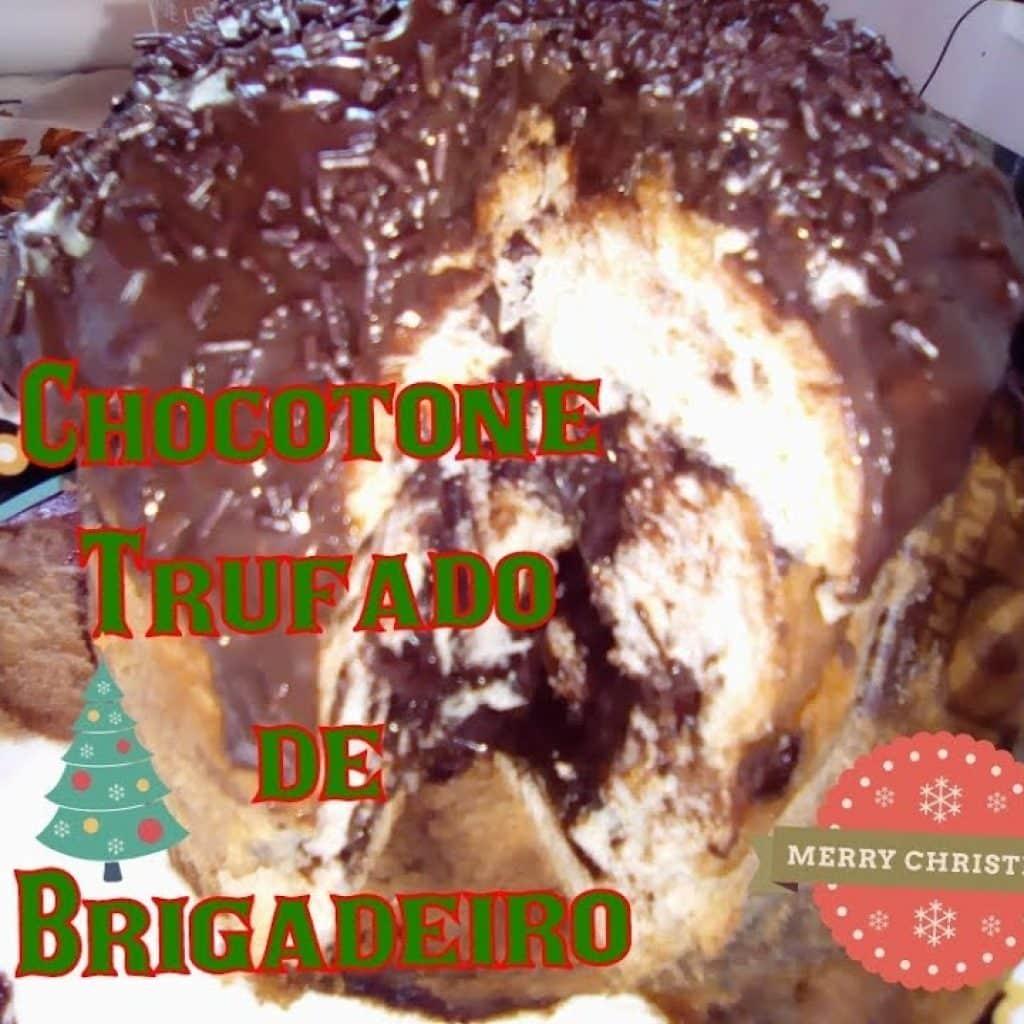 CHOCOTONE TRUFADO DE BRIGADEIRO-ESPECIAL DE NATAL 🌲
