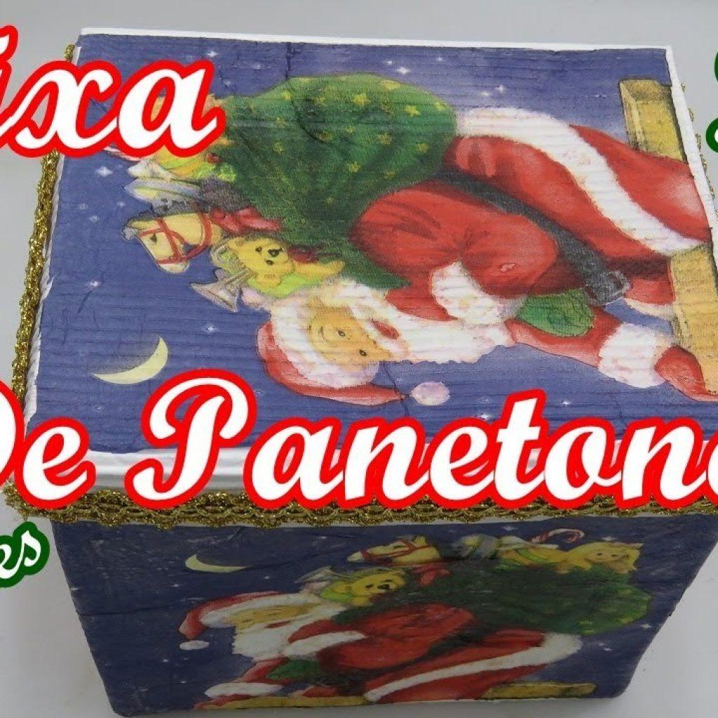 ♻🎄🎅CAIXA DE PANETONE FEITA COM CX DE LEITE🎅🎄♻