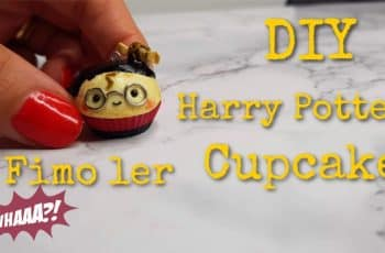 DIY Harry Potter cupcake i Fimo ler