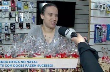 Renda extra no natal: kits com doces fazem sucesso