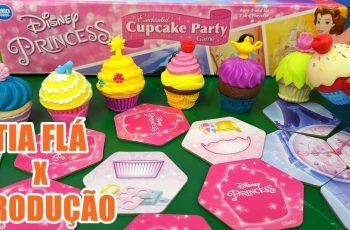 Tia Fla X Produção Jogo Festa Encantada De CUPCAKE Das Princesas Disney Valendo Mico ou Prêmio