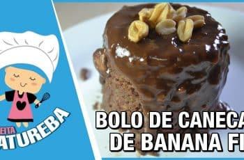 BOLO DE CANECA DE BANANA FIT FÁCIL E RÁPIDO