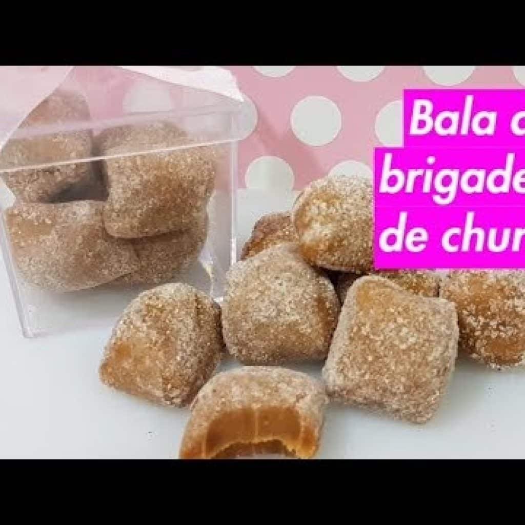 BALA DE BRIGADEIRO DE CHURROS