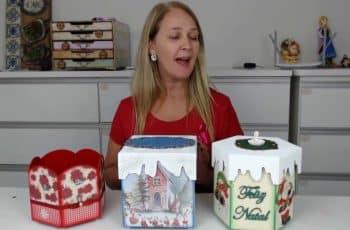 3 Porta Panetones Decorados para o Natal #DIY Artesanato