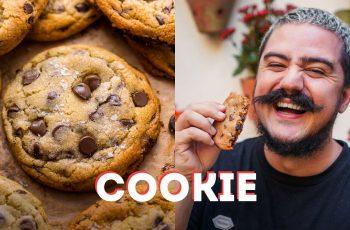 COMO FAZER COOKIE COM GOTAS DE CHOCOLATE