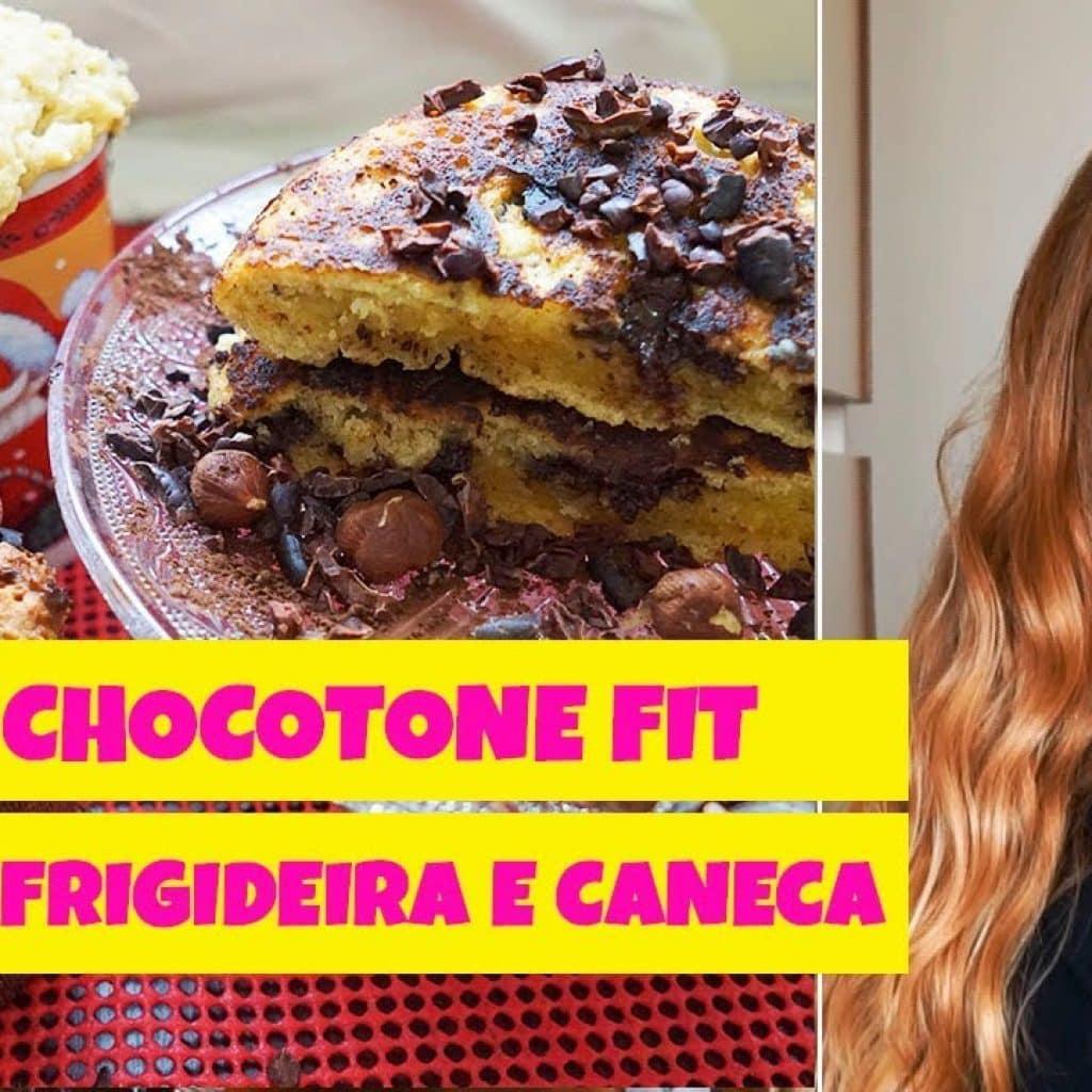 CHOCOTONE FIT NA FORMA DE PANETONE, FRIGIDEIRA E CANECA / DOCES FITNESS por Drika Magrafit