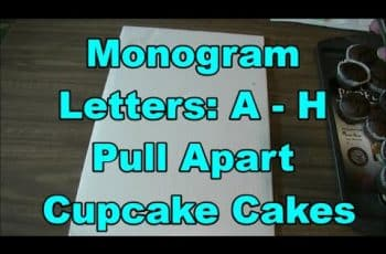 How To Make  A-B-C-D-E-F-G-H Alphabet Letter Shape Cake  | Pull-Apart Monogram Cupcake Cake
