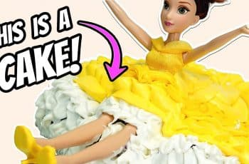 BELLE PRINCESS Pull-Apart Cupcake Cake - Amazing PRINCESS DRESS Cake Decorating | Cake Art by Yumsy!