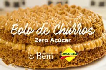 Receita de Bolo de Churros Zero Açúcar Lowçucar
