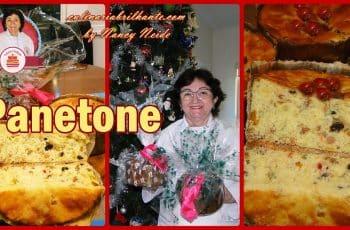 Panetone caseiro delicioso feito com fermento natural | Nancy Neide
