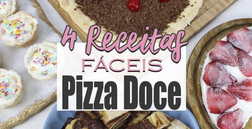 4 Receitas Fáceis de Pizza Doce - Chocolate, Nutella, Leite Ninho e Oreo | Carol e Thaís|