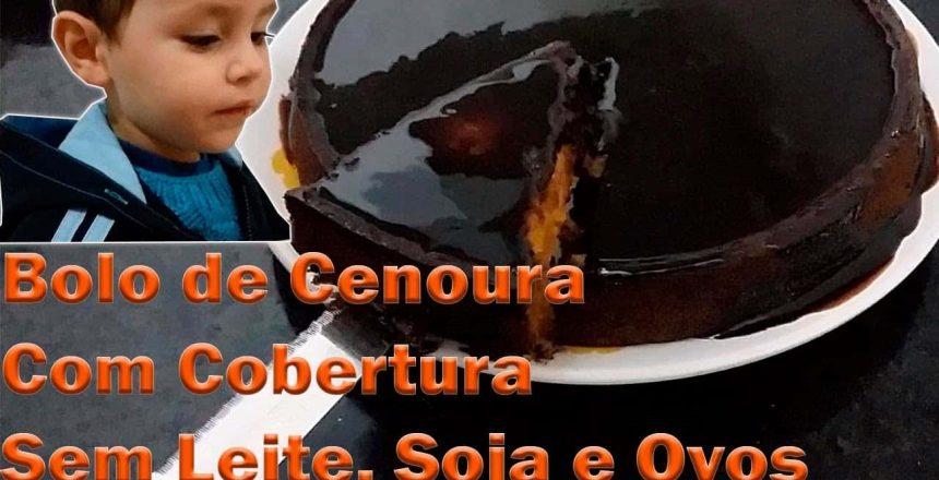 APLV - Bolo de Cenoura Com Cobertura de Chocolate - Letícia Pereira