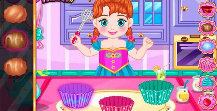 Anna Tasty Cupcake: Disney princess Frozen - Best Baby Games For Girls