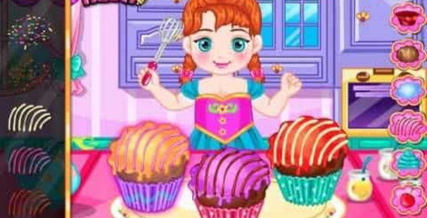 Anna Tasty Cupcake Disney princess Frozen Game for Little Girls