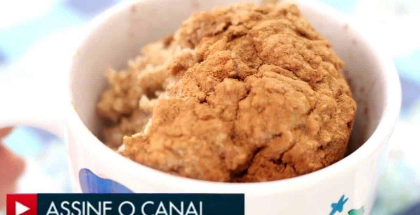BOLO DE CANECA FIT NO MICROONDAS - Na Cozinha da Tamy