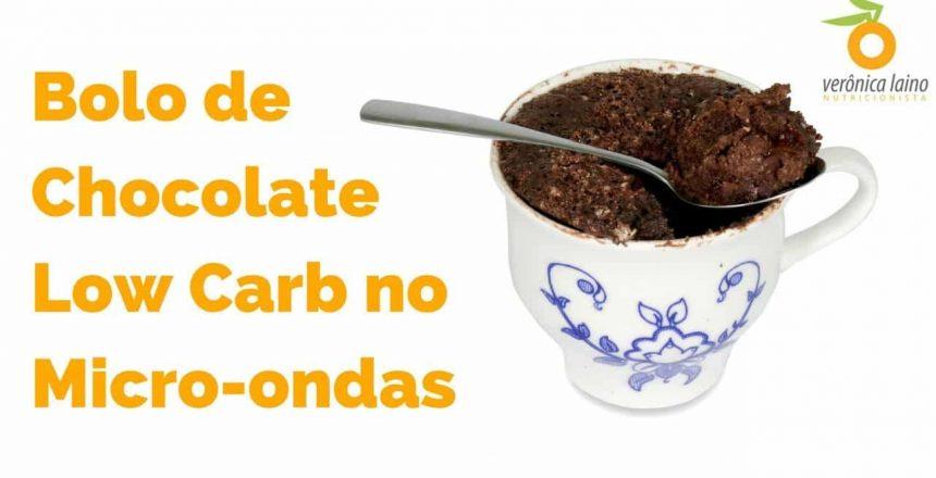 BOLO LOW CARB DE CANECA NO MICRO-ONDAS | Receita fácil de bolo de chocolate | Mata a VONTADE DE DOCE