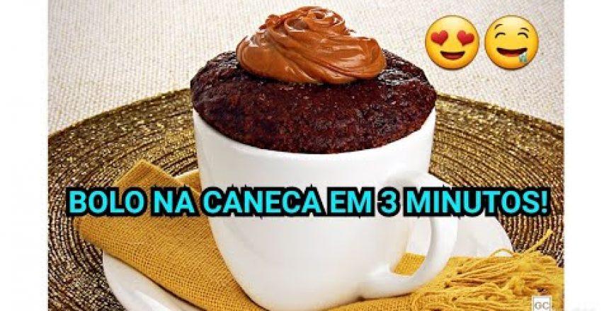 BOLO NA CANECA EM 3 MINUTOS!