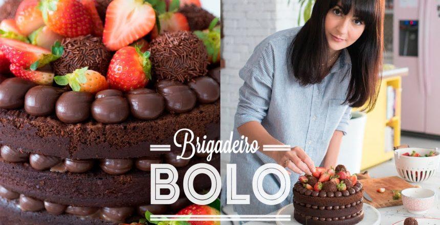 BOLO NAKED DE BRIGADEIRO E MORANGO SUPER MOLHADO E FOFINHO | DANI NOCE